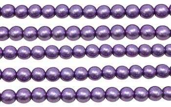 Czech Glass 8mm Round -- Metallic Grapeade