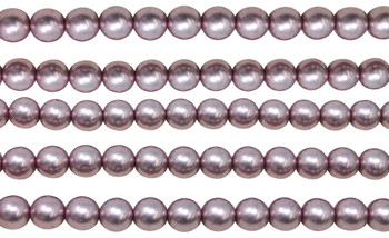 Czech Glass 8mm Round -- Sueded Gold Blackened Pearl