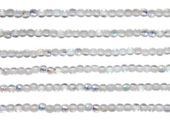 Czech Glass 2mm Round -- Crystal AB