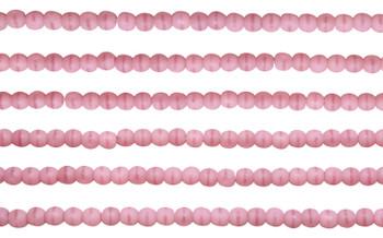 Czech Glass 2mm Round -- Matte Coral Pink
