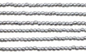 Czech Glass 2mm Round -- Silver