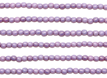 Czech Glass 2mm Round -- Luster Opaque Lilac