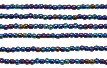 Czech Glass 2mm Round -- Blue Iris