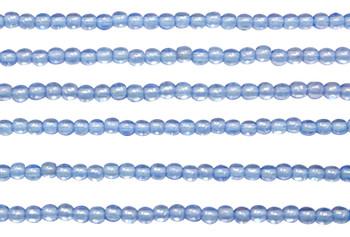 Czech Glass 2mm Round -- Luster Iris Sapphire