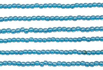Czech Glass 2mm Round -- Luster iris Capri Blue