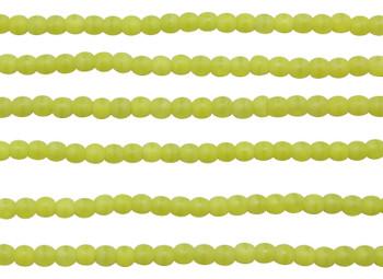 Czech Glass 2mm Round -- Matte Chartreuse