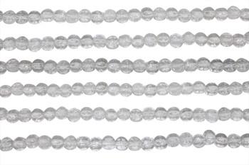 Czech Glass 3mm English Cut Round -- Crystal