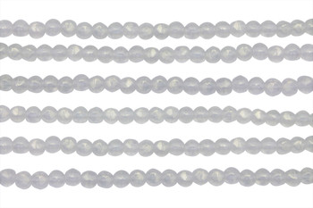 Czech Glass 3mm English Cut Round -- Sueded Gold Crystal