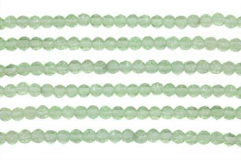 Czech Glass 3mm English Cut Round -- Peridot