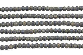 Czech Glass 3mm English Cut Round -- Pacifica Poppy Seed