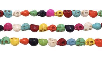 Magnesite Multi Color Polished 6x8mm Skull