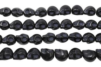 Magnesite Black Polished 13x14mm Skull
