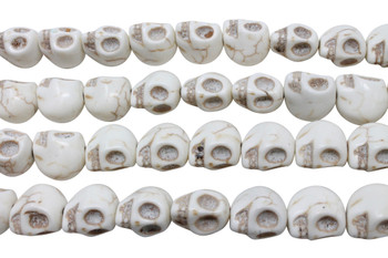 Magnesite Ivory Polished 13x14mm Skull