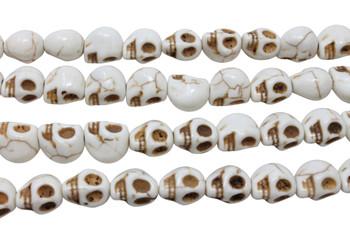Magnesite Ivory Polished 11x10mm Skull