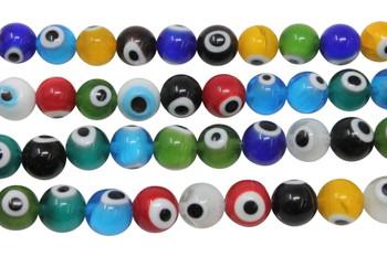 Evil Eye Mix Beads 10mm Glass Round