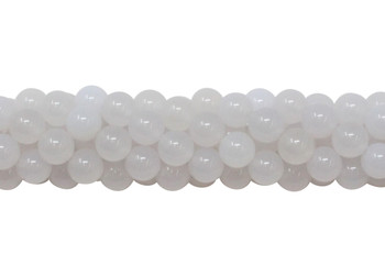 White Agate Polished 8mm Round