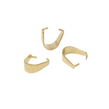 18K Gold Plated Stainless Steel 7x6x3mm Pinch Bail