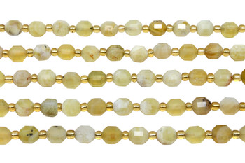 Natural Yellow Opal Polished 6mm Energy Tube
