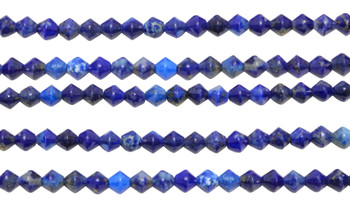 Lapis Polished 3x4mm Faceted Bicone
