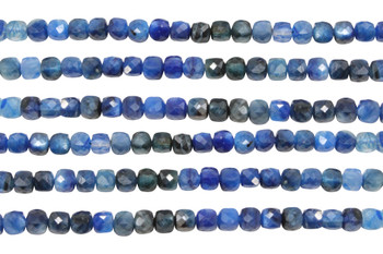 Kyanite Polished 4mm Faceted Cube