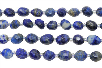Lapis Natural Polished 11x8mm Faceted Nugget