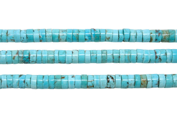 Nevada Turquoise Polished 7-7.5mm Heishi
