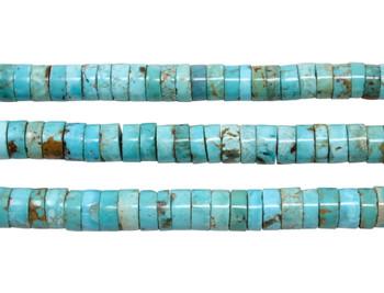 Nevada Turquoise Polished 6.5-7mm Heishi