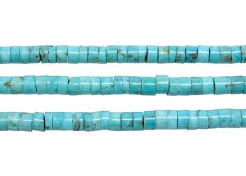 Nacozari Turquoise Polished 5mm Heishi