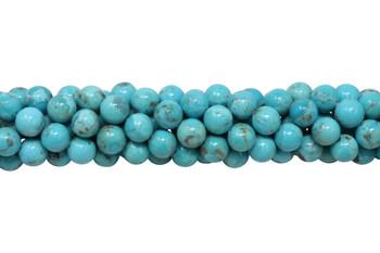 Kingman Turquoise Polished 8mm Round