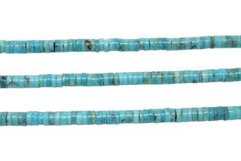 Kingman Turquoise Polished 4-4.5mm Heishi