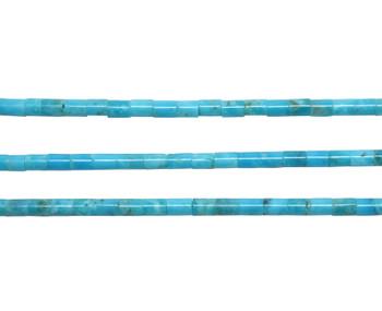 Kingman Turquoise Polished 2-2.5mm Heishi