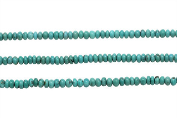 Chinese Turquoise Matte 4x5-7mm Faceted Tube