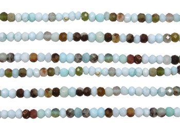 Peruvian Opal Polished 3-4 Faceted Rondelle Nuggets