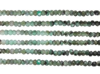 Emerald Banded 3-3.5mm Faceted Rondel