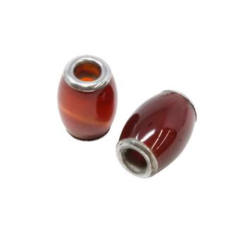 Carnelian Polished Large Hole Bead