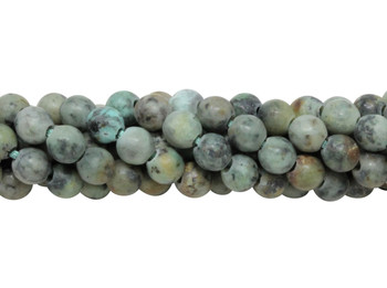 African Turquoise Matte 6mm Round - 2mm Large Hole