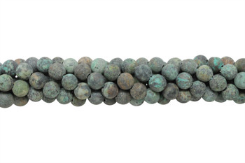 African Turquoise Matte 8mm Round - 2mm Large Hole