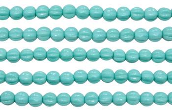 Czech Glass 5mm Melon --  Turquoise