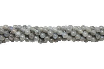 Labradorite AA Grade Polished 6mm Round - 2mm Large Hole