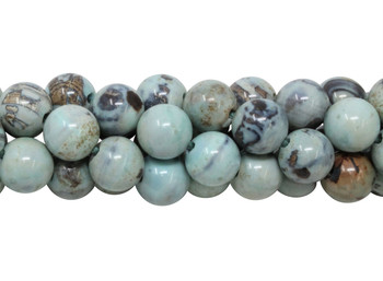 Fire Agate Polished 10mm Round - 2mm Large Hole