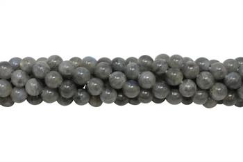Labradorite AA Grade Polished 8mm Round - 2mm Large Hole