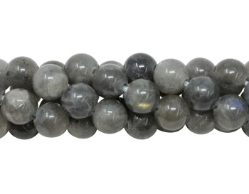 Labradorite AA Grade Polished 10mm Round - 2mm Large Hole