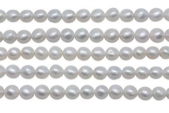 Akoya Saltwater Pearls 7mm Baroque - White