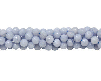 Blue Lace Agate Polished A Grade 6mm Round
