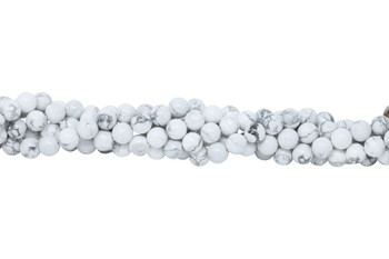 Howlite Polished White 10mm Round