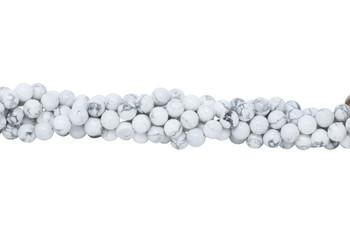 Howlite Polished White 10mm Round