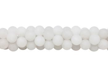 White Jade Matte 12mm Round