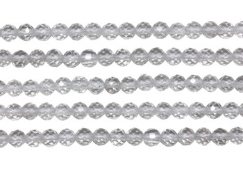 Crystal Quartz A Grade Polished 4mm faceted Round 64 Cut