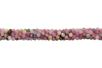 Tourmaline Multi Color Polished 4mm Faceted Round - Light Tones