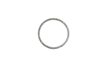 Gunmetal 34mm 12 Gauge Closed Soldered Diamond Cut Ring